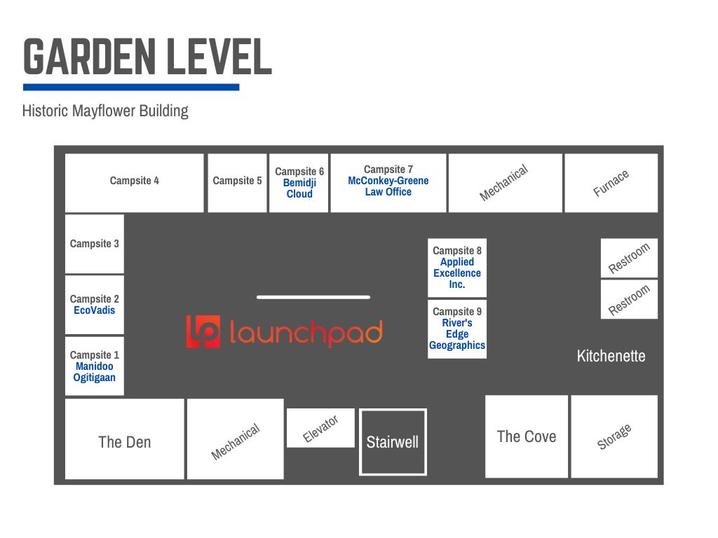 Map of Mayflower LaunchPad Level